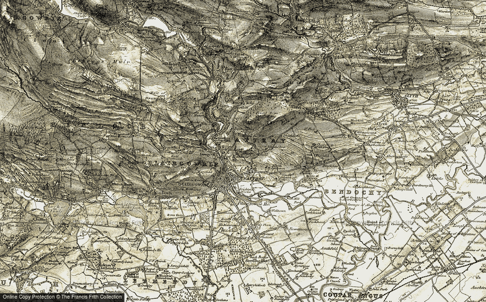 Old Map of Historic Map covering Linkholms in 1907-1908