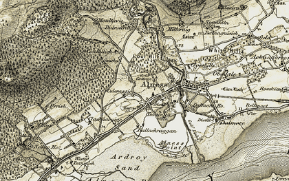 Old map of Westford in 1911-1912