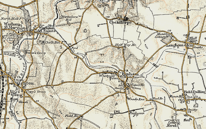 Old map of Westgate in 1901-1902