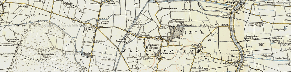 Old map of Westgate in 1903
