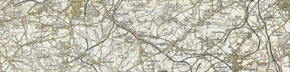 Old map of Westgate Hill in 1903