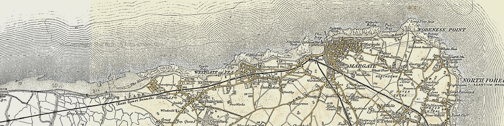 Old map of Westgate on Sea in 1898-1899