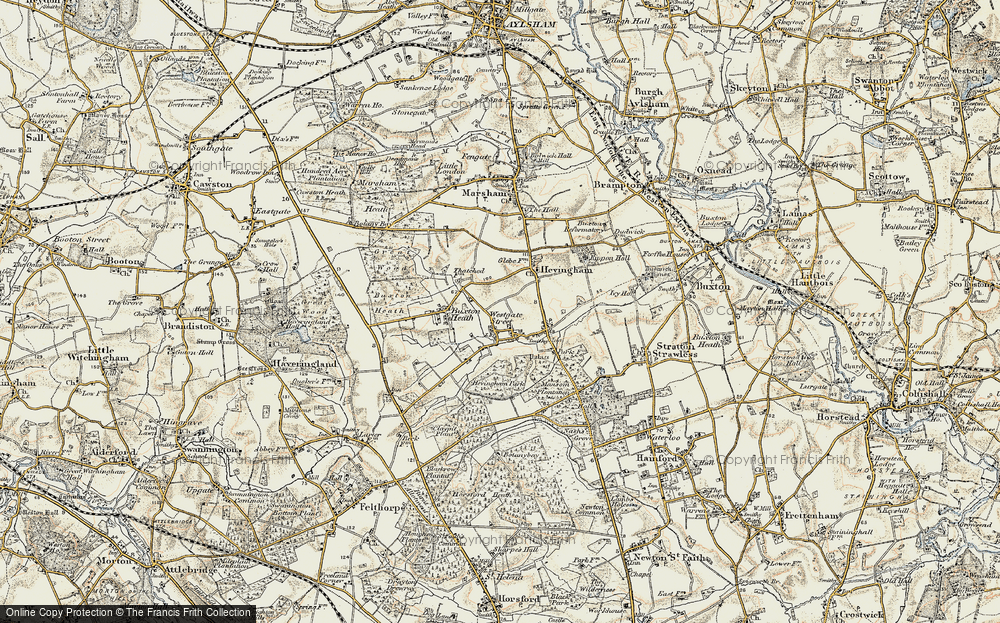 Old Map of Westgate Street, 1901-1902 in 1901-1902