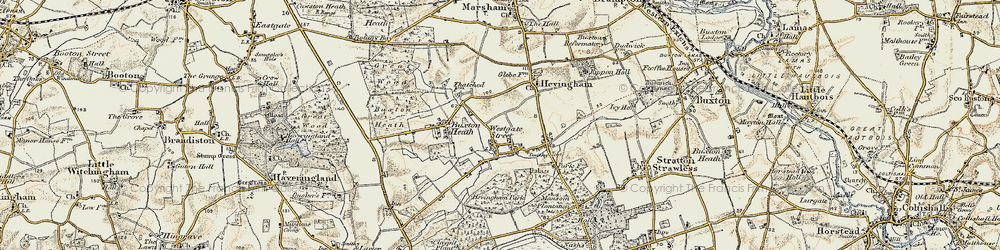 Old map of Westgate Street in 1901-1902