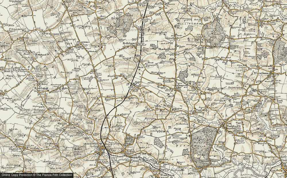 Old Map of Westhall, 1901-1902 in 1901-1902