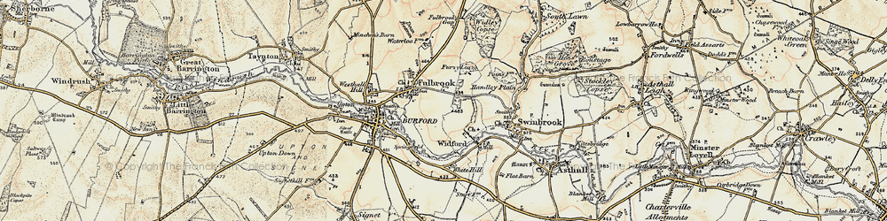 Old map of Westhall Hill in 1898-1899
