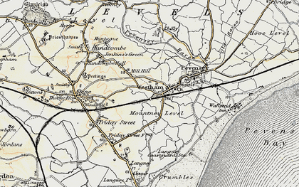 Old map of Westham in 1898