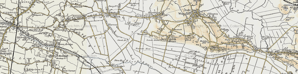 Old map of Westham in 1899-1900
