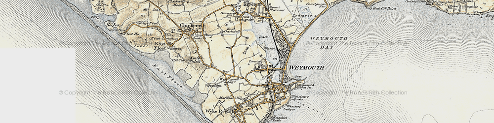 Old map of Westham in 1899