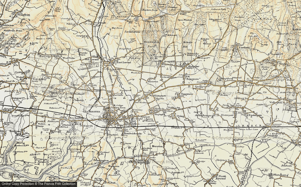 Old Map of Westhampnett, 1897-1899 in 1897-1899