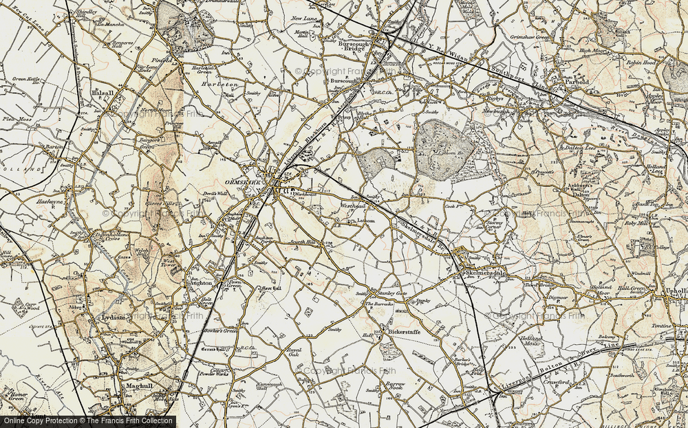 Old Map of Westhead, 1902-1903 in 1902-1903