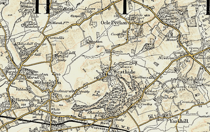 Old map of Westhide in 1899-1901