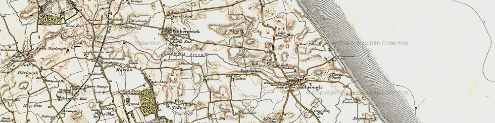 Old map of Whitehill in 1903-1908