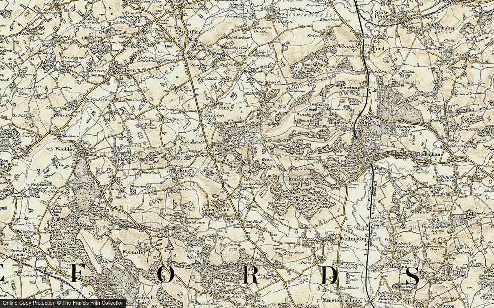 Old Map of Westhope, 1900-1901 in 1900-1901