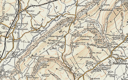 Old map of Westhope in 1902-1903
