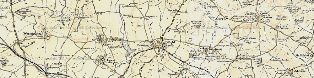 Old map of Westhorp in 1898-1901