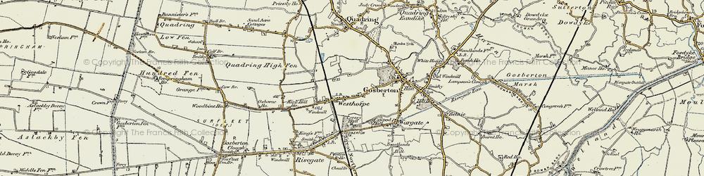 Old map of Westhorpe in 1902-1903