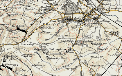 Old map of Westhorpe Dumble in 1902