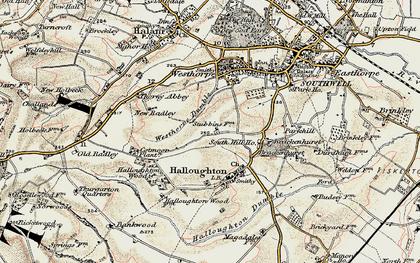 Old map of Westhorpe in 1902