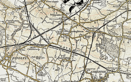 Old map of Westhoughton in 1903