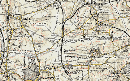 Old map of Alfreton & Mansfield Parkway Station in 1902-1903