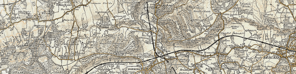 Old map of Westhumble in 1898-1909