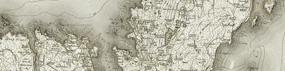 Old map of Wick of Collaster in 1912