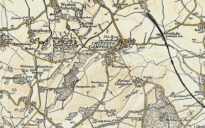 Old map of Westington in 1899-1901