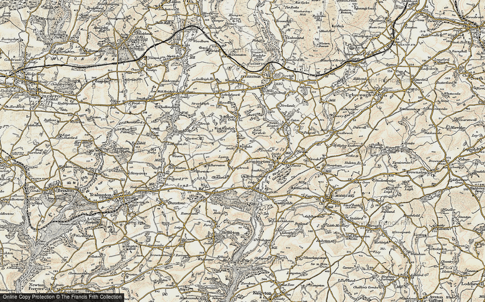 Old Map of Historic Map covering Tod Moor in 1899-1900