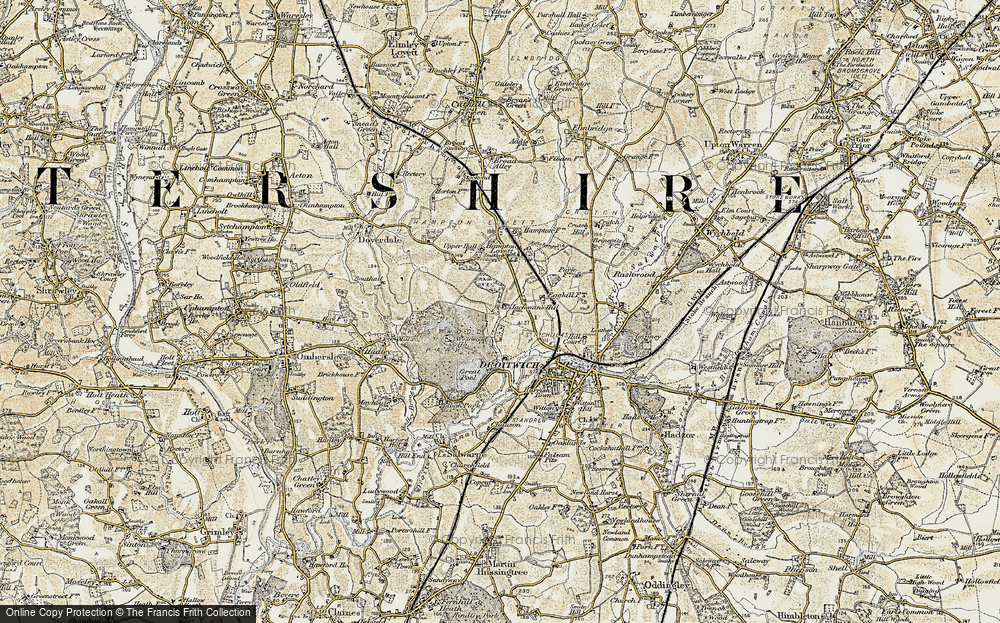 Old Map of Westlands, 1899-1902 in 1899-1902