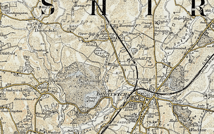 Old map of Westlands in 1899-1902
