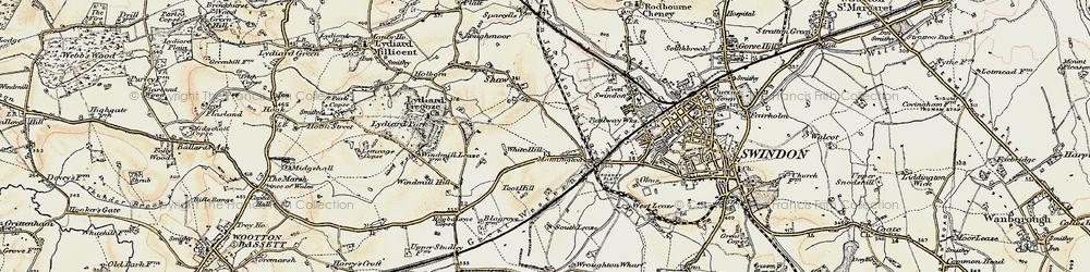 Old map of Westlea in 1897-1899