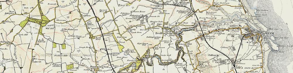 Old map of Westlea in 1901-1903
