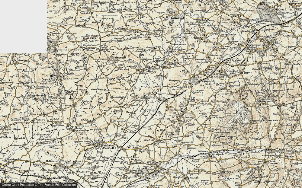 Old Map of Westleigh, 1898-1900 in 1898-1900