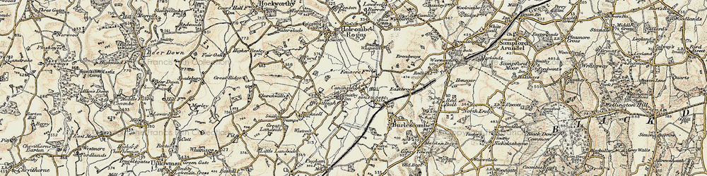 Old map of Westleigh in 1898-1900