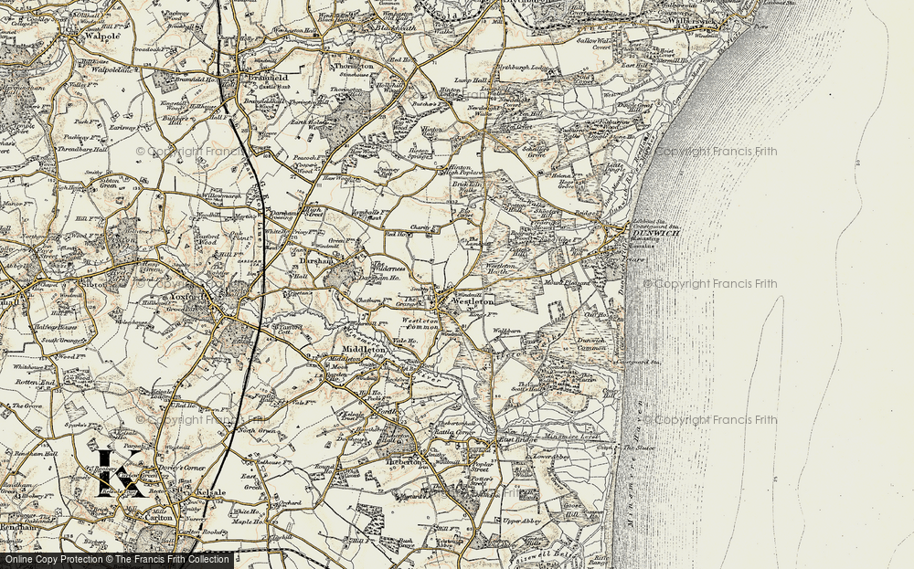 Old Map of Westleton, 1901 in 1901