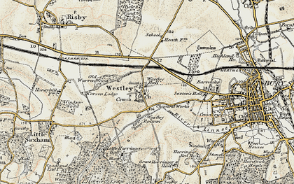 Old map of Westley in 1899-1901