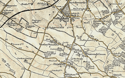 Old map of Westley Waterless in 1899-1901