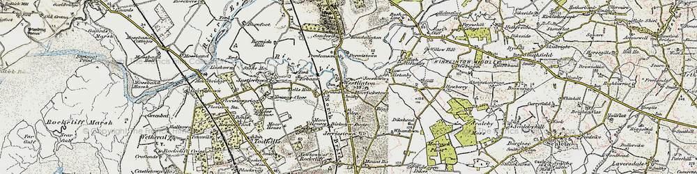 Old map of Westlinton in 1901-1904