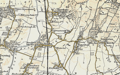 Old map of Westmancote in 1899-1901