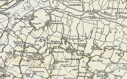 Old map of Westmarsh in 1898-1899