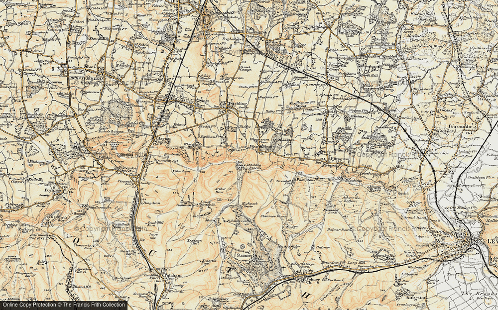 Old Map of Westmeston, 1898 in 1898