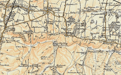 Old map of Westmeston Place in 1898