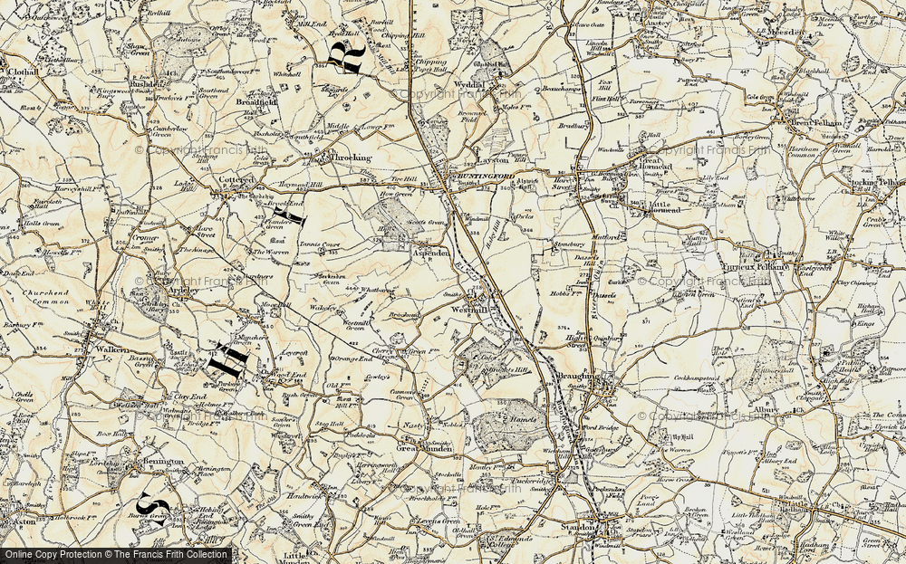 Old Map of Westmill, 1898-1899 in 1898-1899