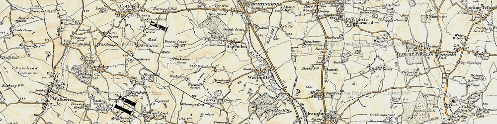 Old map of Westmill in 1898-1899