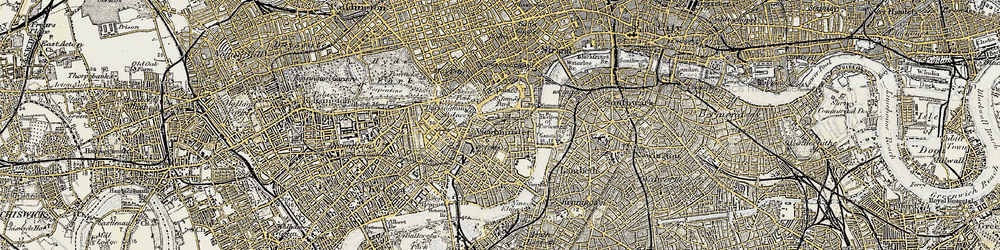 Old map of Westminster in 1897-1902