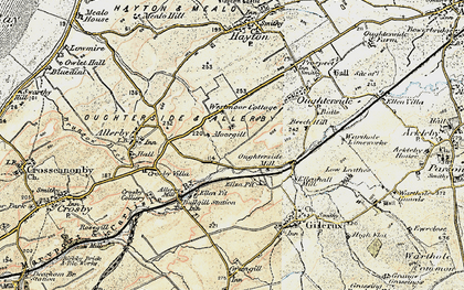 Old map of Westmoor End in 1901-1904