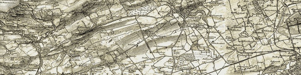 Old map of Westmuir in 1907-1908