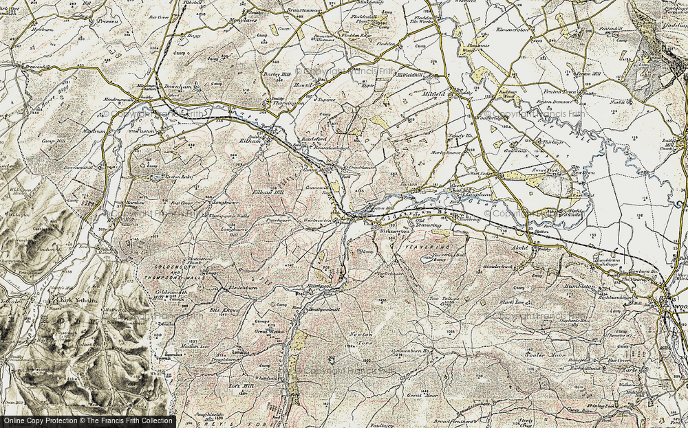 Old Map of Westnewton, 1901-1903 in 1901-1903