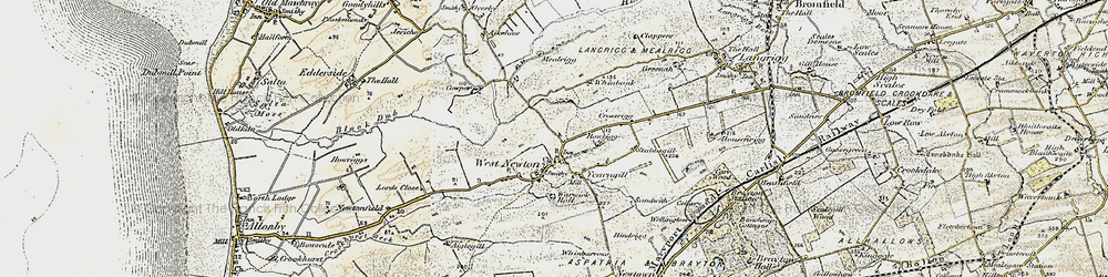 Old map of Westnewton in 1901-1904